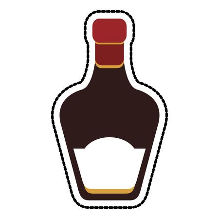 the footstool: tinted glass liquor bottle icon image vector illustration design Illustration