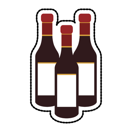 tinted glass liquor bottle icon image vector illustration design Illustration