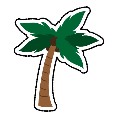 palm tree with coconuts icon image vector illustration design Illustration