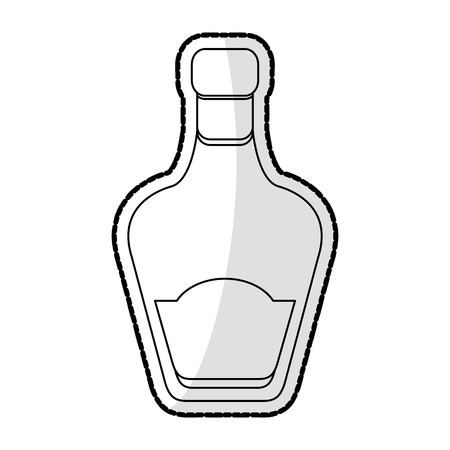 liquor bottle icon image vector illustration design