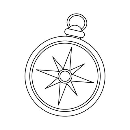vintage compass icon image vector illustration design Illustration