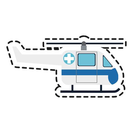 reanimation: helicopter ambulance paramedic health icon image vector illustration design