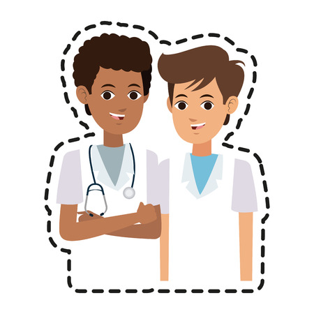 young male medical doctor icon image vector illustration design Illustration