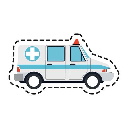 ambulance sideview icon image vector illustration design