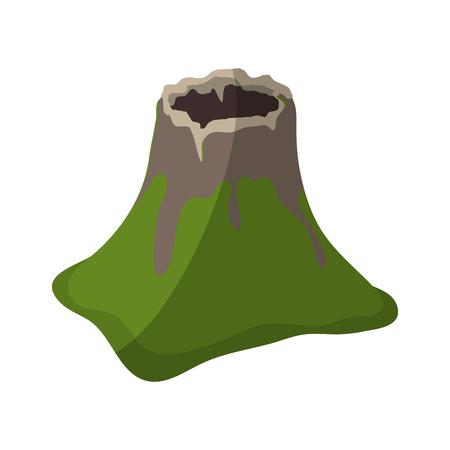 volcano icon over white background. colorful design. vector illustration