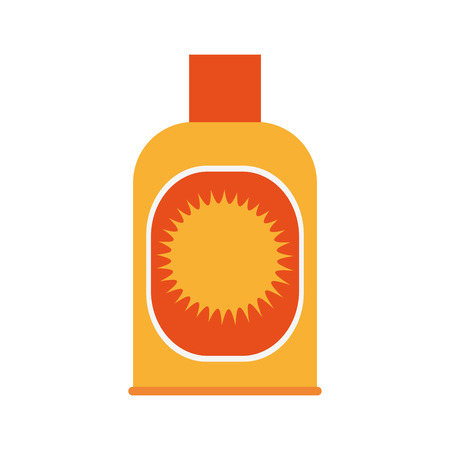 suntan lotion: sunblock bottle icon over white background. colorful design. vector illustration Illustration