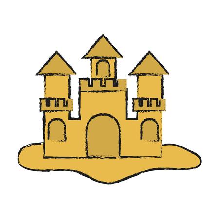 sandcastle icon over white backgronund. vector illustration Illustration