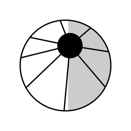 pool ball icon over white backgronund. vector illustration Illustration