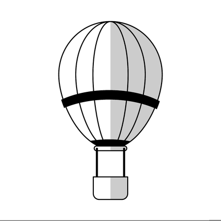 airship: hot air balloon icon over white backgronund. vector illustration Illustration