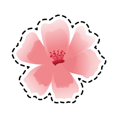 pink flower icon image vector illustration design