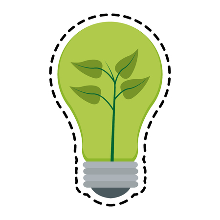 lightbulb eco friendly related icons image vector illustration design