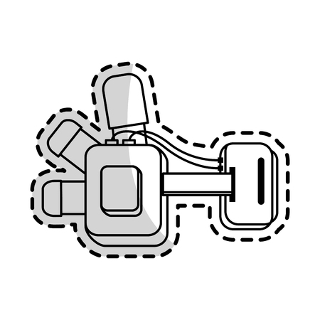 goggles virtual reality icon image vector illustration design