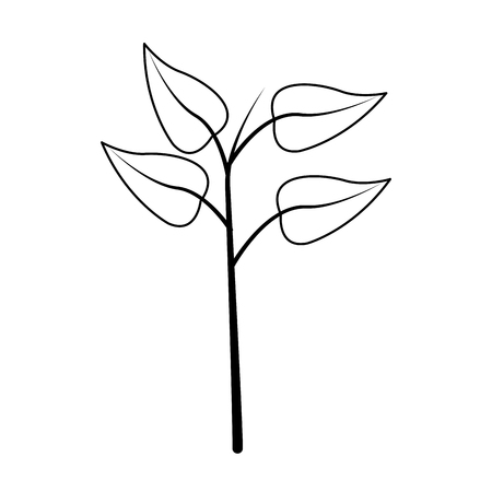 vegetate: leaf plant icon image vector illustration design Illustration