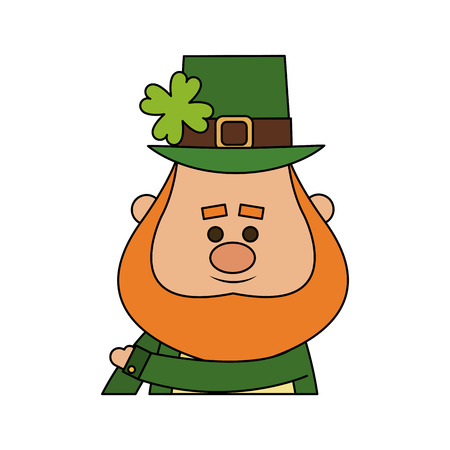 patrick's: leprechaun st patricks day icon image vector illustration design