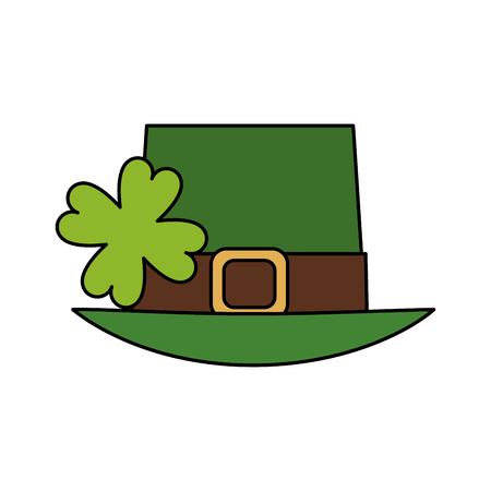 leprechaun hat st patricks day icon image vector illustration design