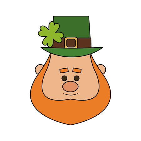Leprechaun st patricks dag icoon afbeelding vector illustratie ontwerp Stock Illustratie