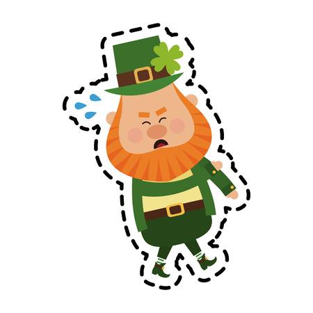 leprechaun st patricks day icon image vector illustration design