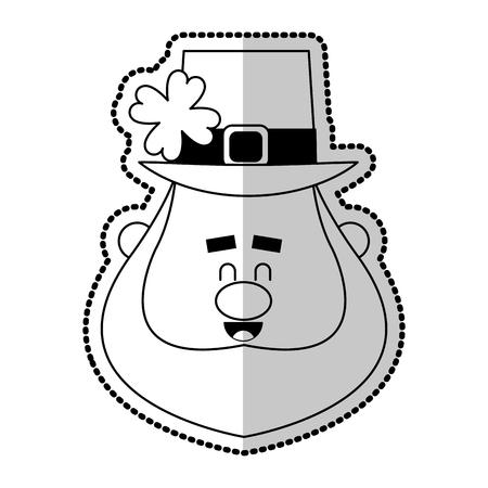 clover leaf shape: leprechaun st patricks day icon image vector illustration design