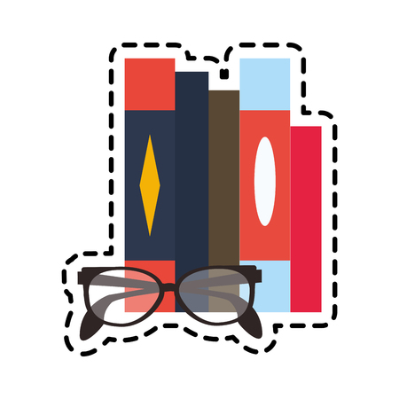 books and glasses icon image vector illustration design Illustration