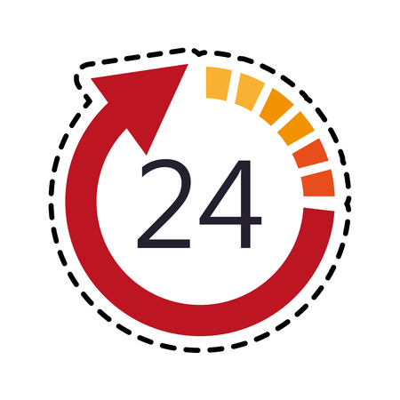 open 24 7 icon image vector illustration design Illustration
