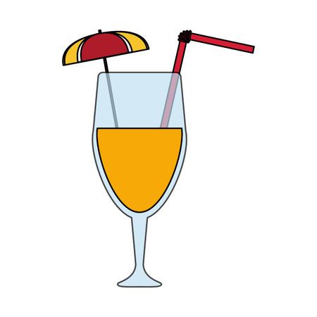 cocktail drink in garnished glass  icon image vector illustration design Illustration