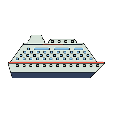wandering: cruise ship icon image vector illustration design Illustration