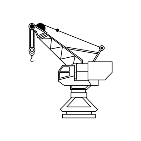 luggage carrier: port crane icon image vector illustration design