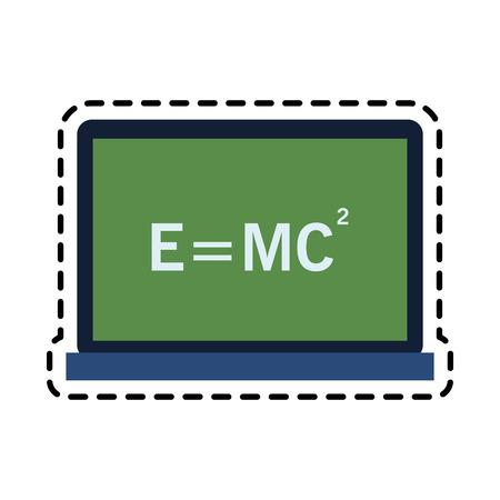 relativity theory equation math icon image vector illustration design Illustration