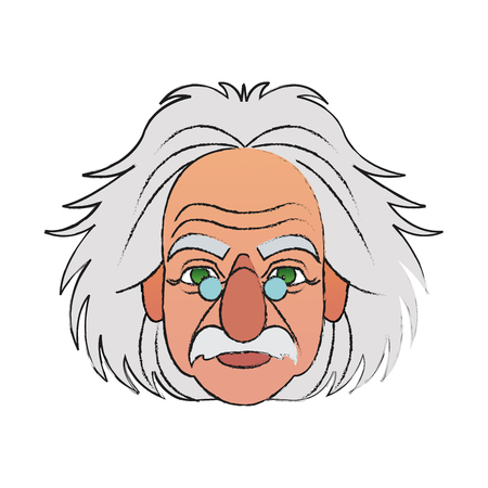 albert einstein icon image vector illustration design Illustration