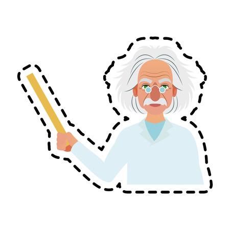 albert einstein icon image vector illustration design Illustration