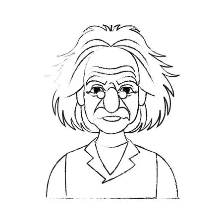 albert einstein icon image sketch line  vector illustration design