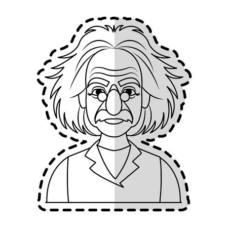 professor icon image sketch line  vector illustration design
