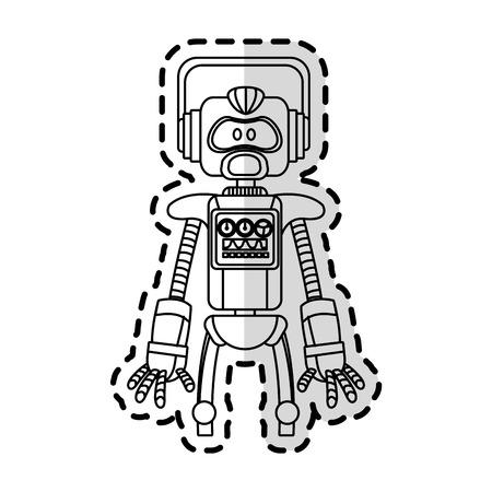 cybernetics: robot technology icon image vector illustration design