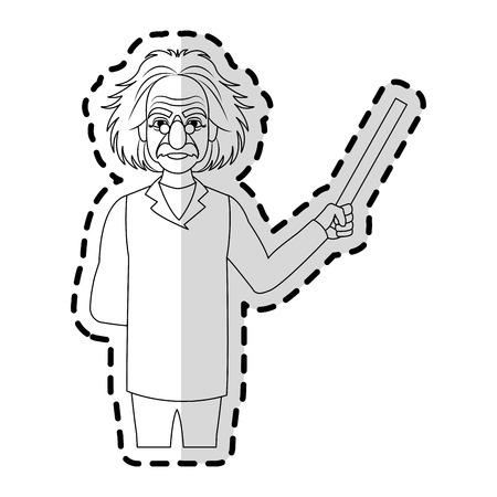 professor icon image sticker vector illustration design