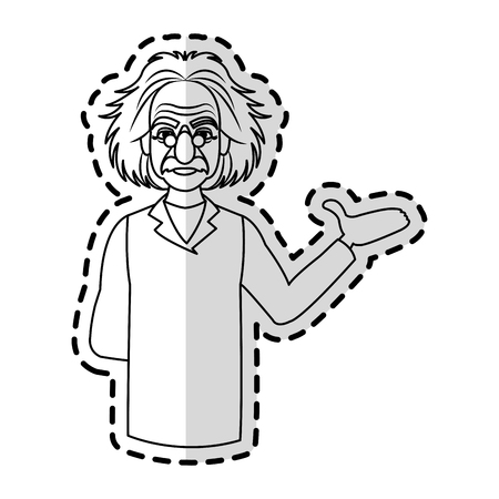 professor icon image sticker vector illustration design