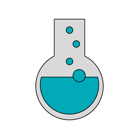 a solution tube: round bottom flask icon image vector illustration design