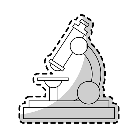 microscope science icon image vector illustration design