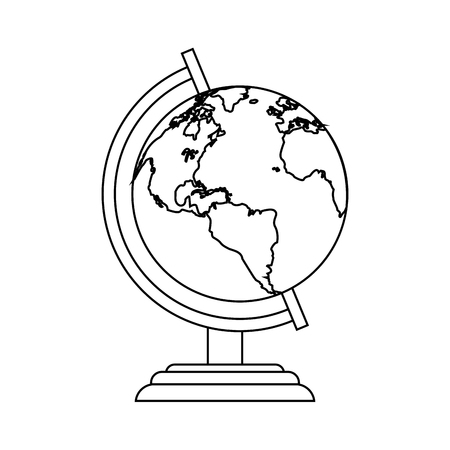 earth globe icon image vector illustration design