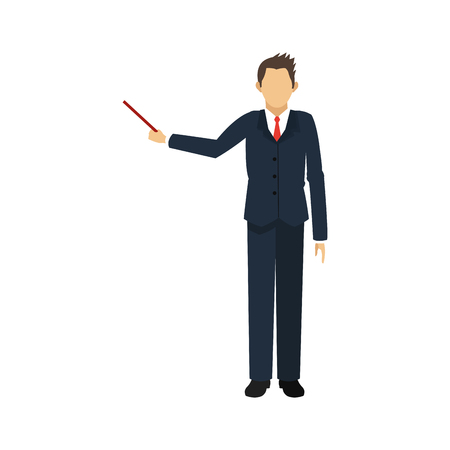 associates: businessman  cartoon icon over white background. colorful design. vector illustration Illustration
