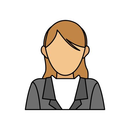 faceless business woman icon image vector illustration design Illustration