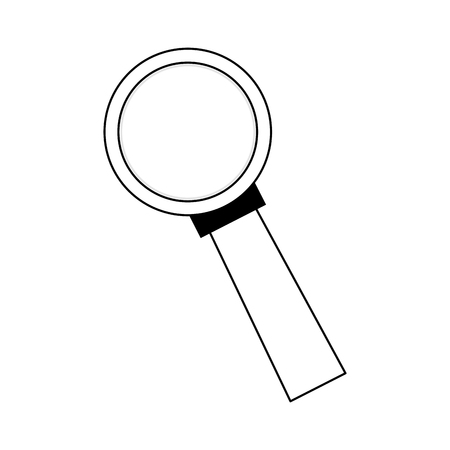 magnifying glass icon over white backgroudn. vector illustration Illustration