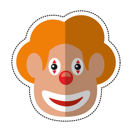 tonto: cartoon face clown april fool day vector illustration eps 10
