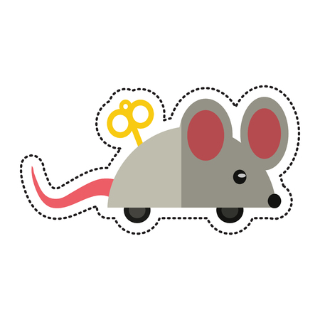 cartoon april fools day mouse surprise vector illustration eps 10