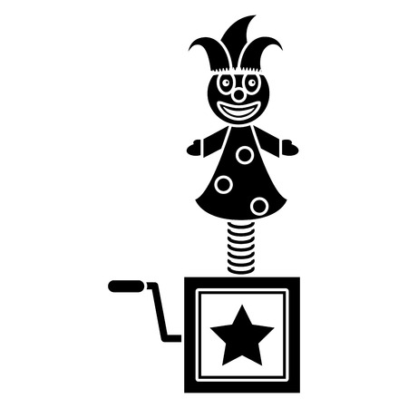 april fools jack in the box pictogram vector illustration eps 10