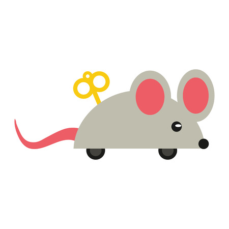 ballyhoo: april fools  day mouse surprise vector illustration eps 10