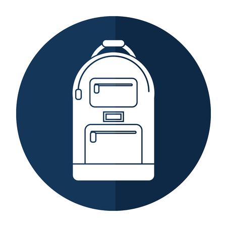 carryall: backpack school design shadow vector illustration eps 10
