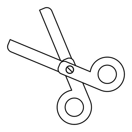 scissors school utensil line vector illustration eps 10
