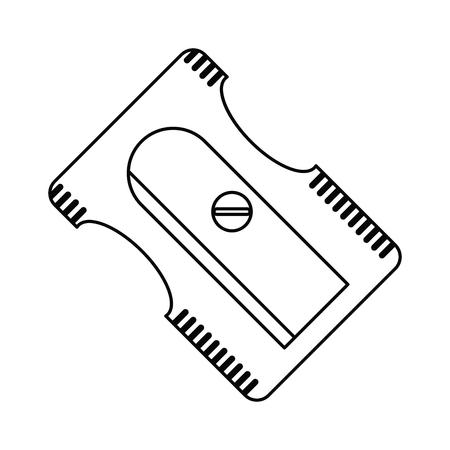 sharpener school utensil line vector illustration eps 10 Ilustração