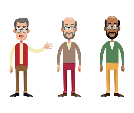 group male grandfather image vector illustration eps 10 Illustration