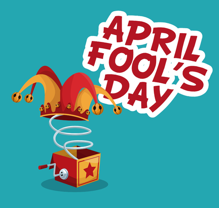 april fools day stylish text vector illustration eps 10
